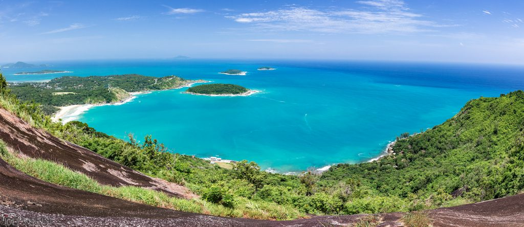 Wide view from Black Rock viewpoint in Phuket.
