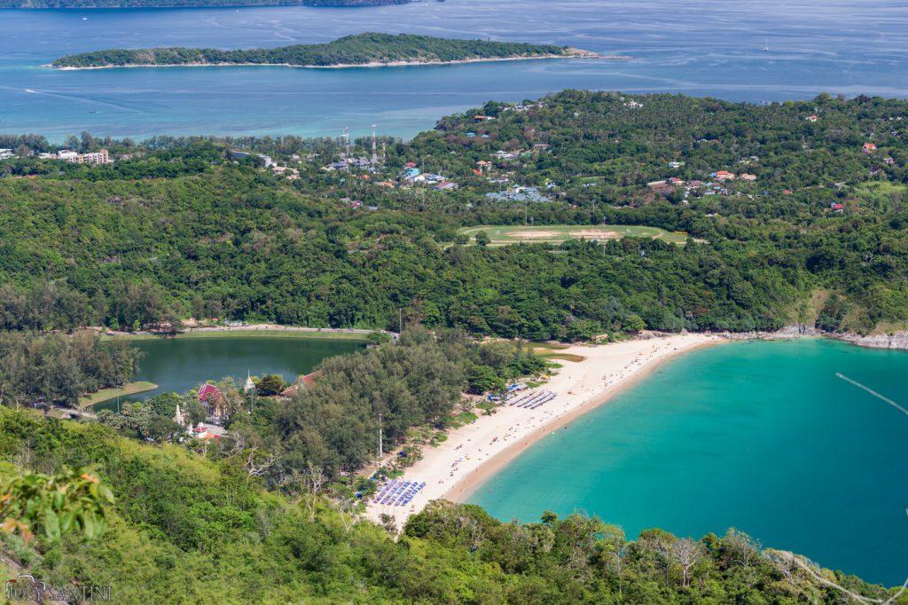 Lake and beach of Nai Harn.