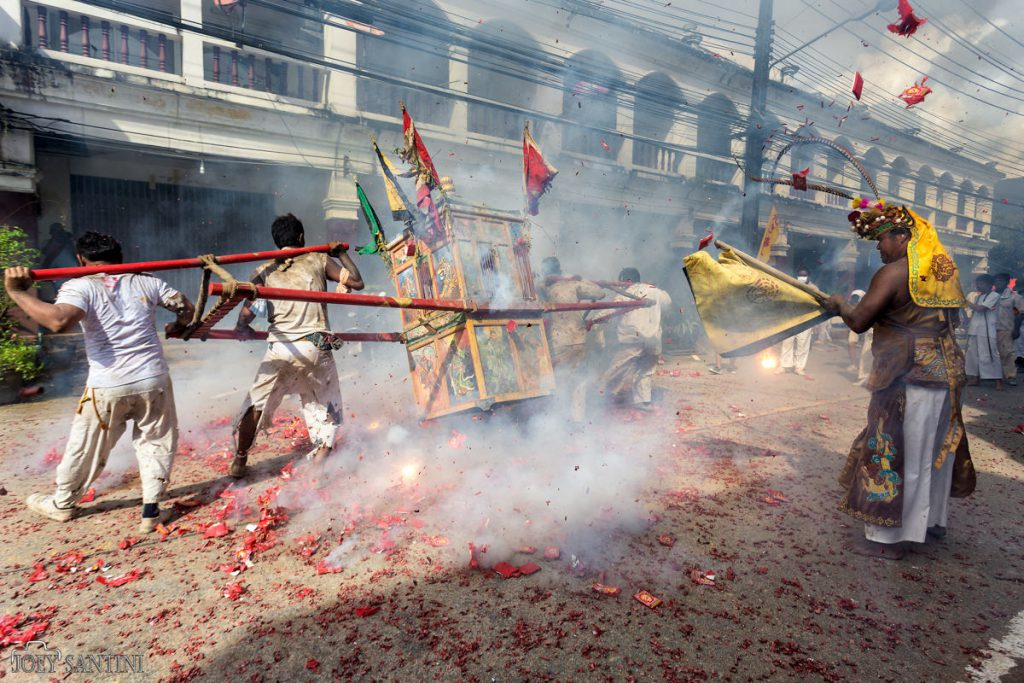 Devotees vs firecrackers on the road