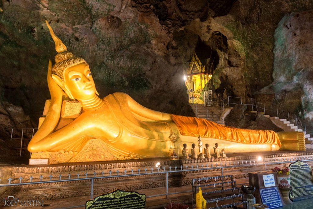 The reclining Buddha Cave in Phang Nga