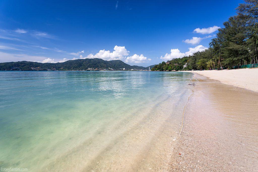 High tide on the beach.