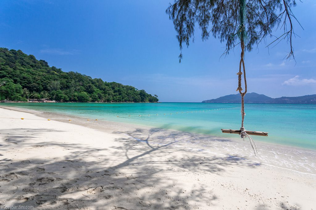Lonely and calm beach of Phuket.