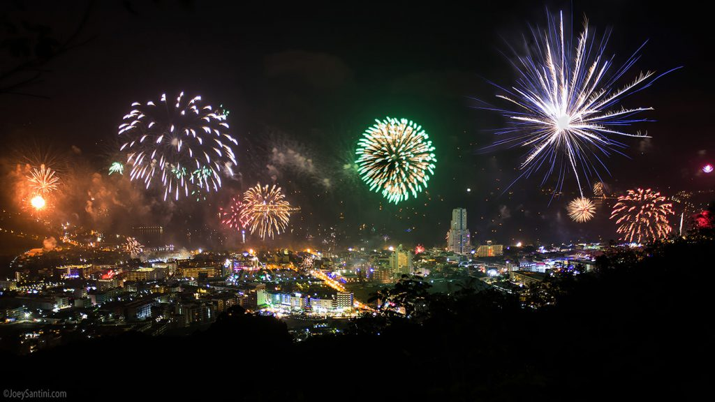 New Year Eve fireworks.