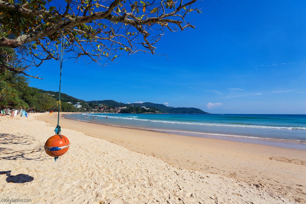 Beautiful and popular Phuket beach.