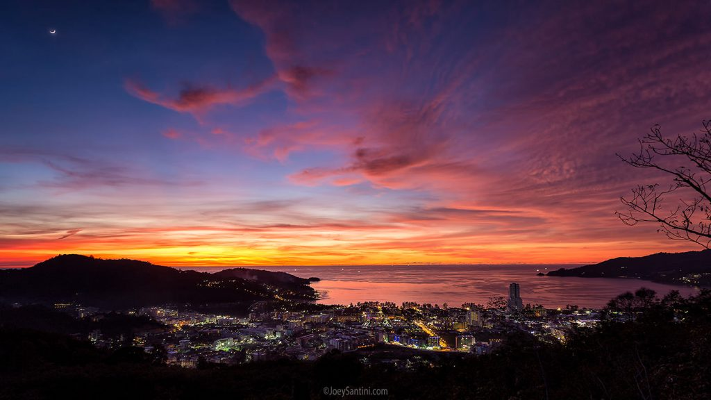 Stunning Phuket sunset.