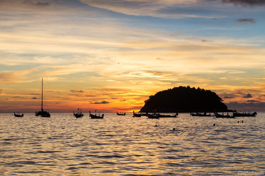Colorful Phuket sunset.