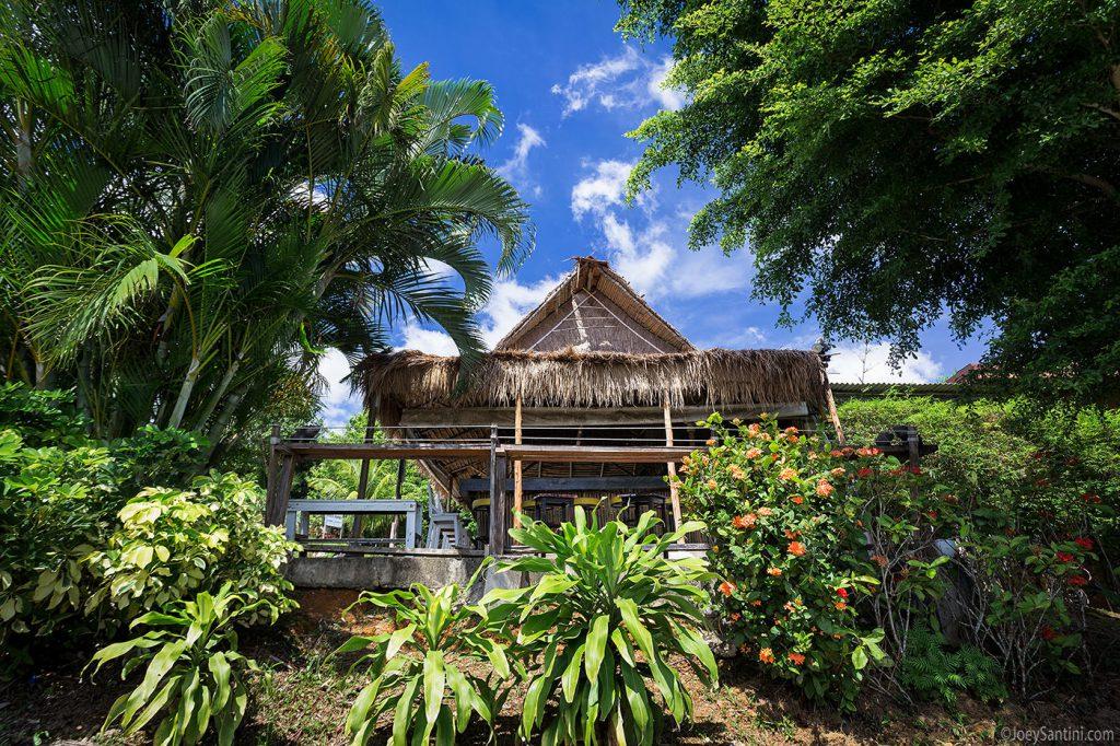 The bamboo hut.