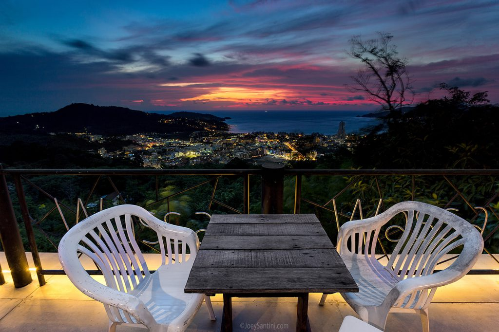 Romantic view from the terrace.