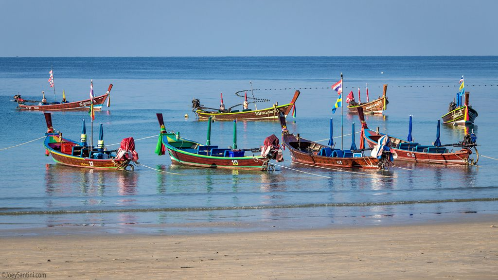 Local longtail boats.