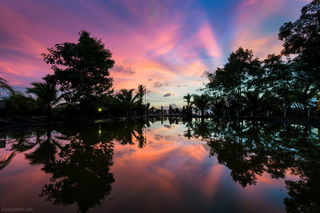 Colorful sky and great reflection.