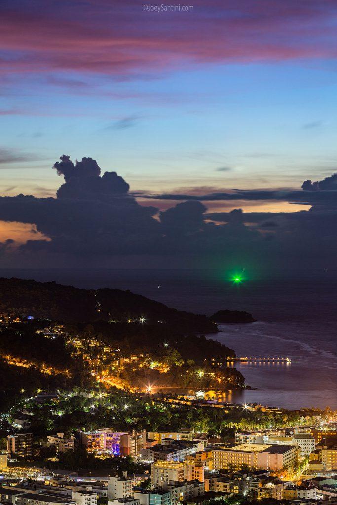 Twilight over Patong beach.