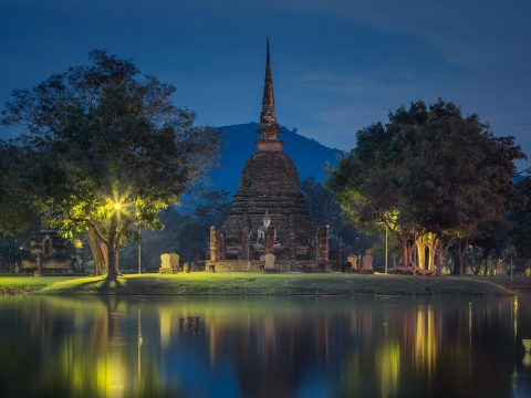 Sukhothai Historical Park in Northern Thailand