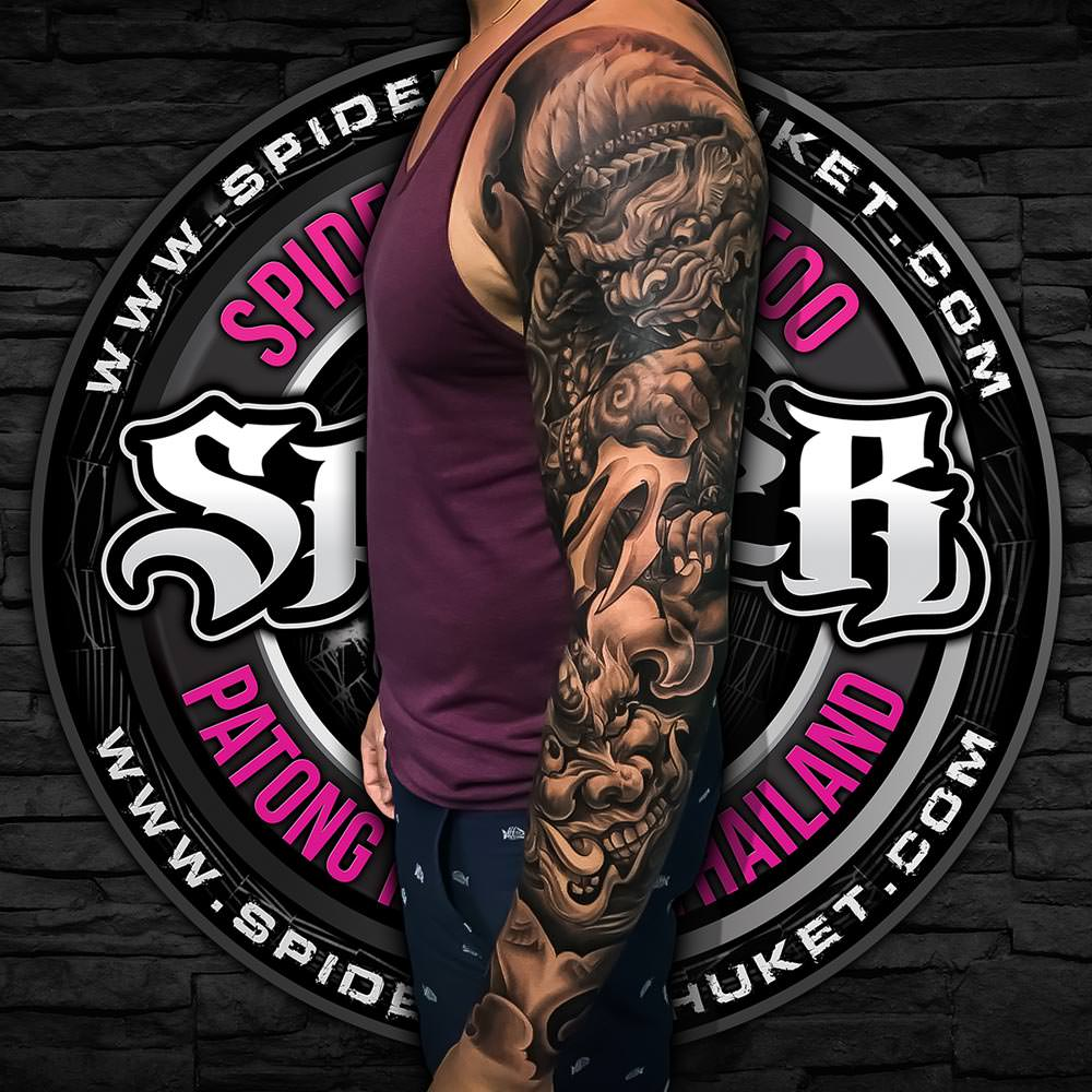 dee51ad32 Message them on Facebook or pop into the studio for a chat, and they hope  to see you soon at Spider Ink Phuket.